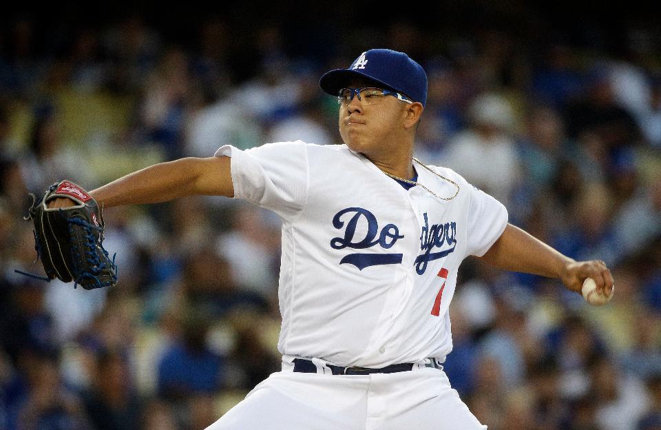 Julio Urías Dodgers 2017
