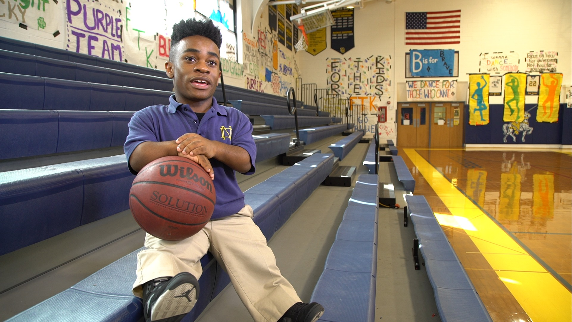 Mike Purvis 1.15m altura basquetbol Notre Dame