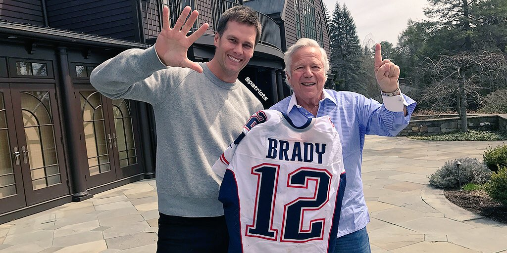 Jersey Tom Brady Recuperado Robert Kraft