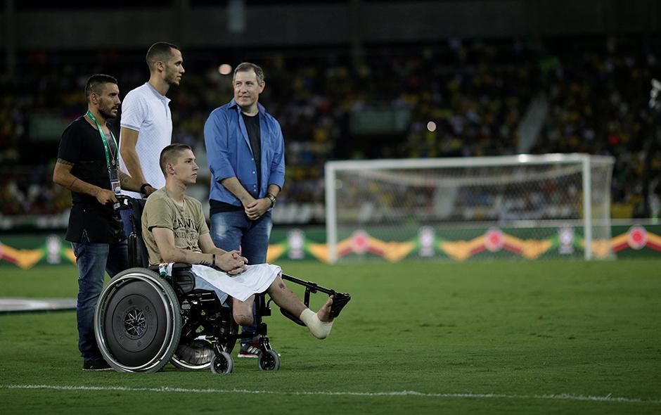 Chapecoense, accidente, jugador, pierna ortopédica, futbol, Brasil