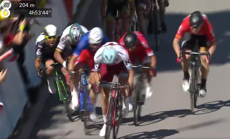 Tour de Francia, Caída, Peter Sagan, Mark Cavendish, Expulsado, Cuarta etapa,