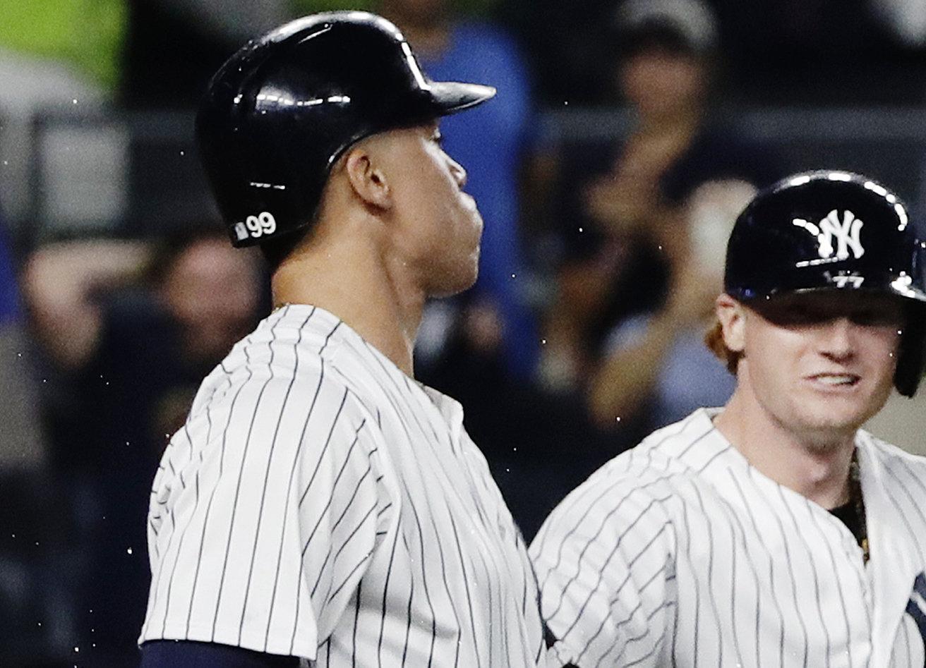 Aaron Judge Yankees Diente celebración Rays