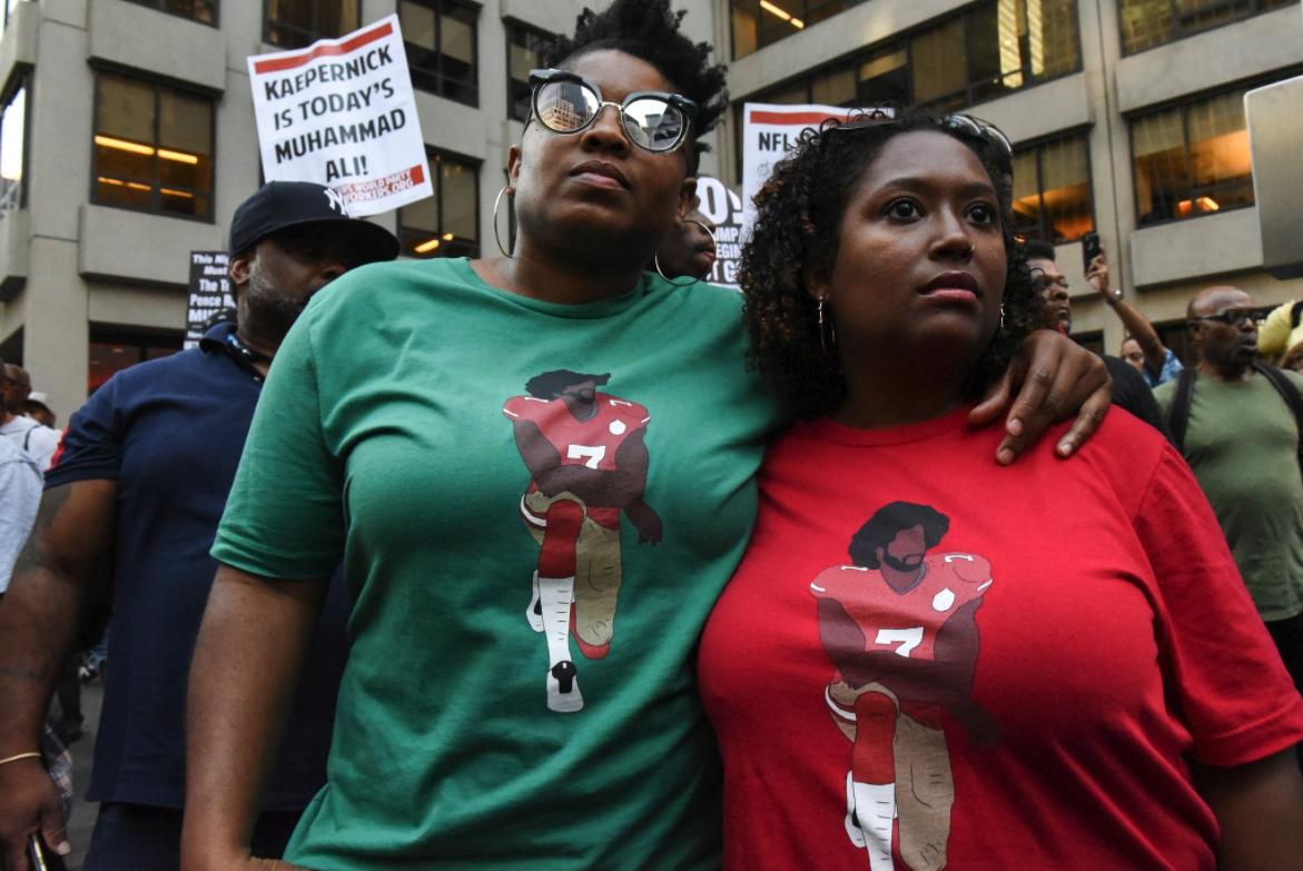 Colin Kaepernick NFL protestas marcha New York