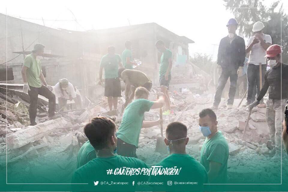 Cruz Azul Zacatepec Escombros Sismo Ciudad de México