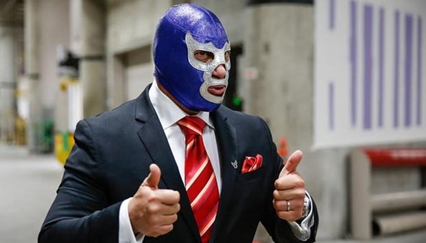 Blue Demon Jr. ISSSTE Lucha Obesidad Campaña