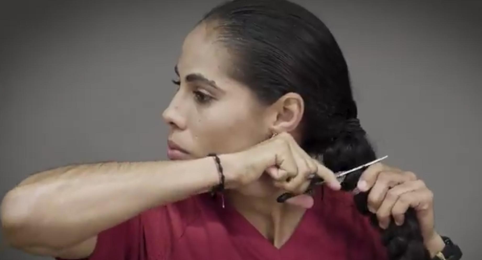 Jugadoras, Atlas, femenil, cortan cabello, cáncer de mama, apoyar, afectadas