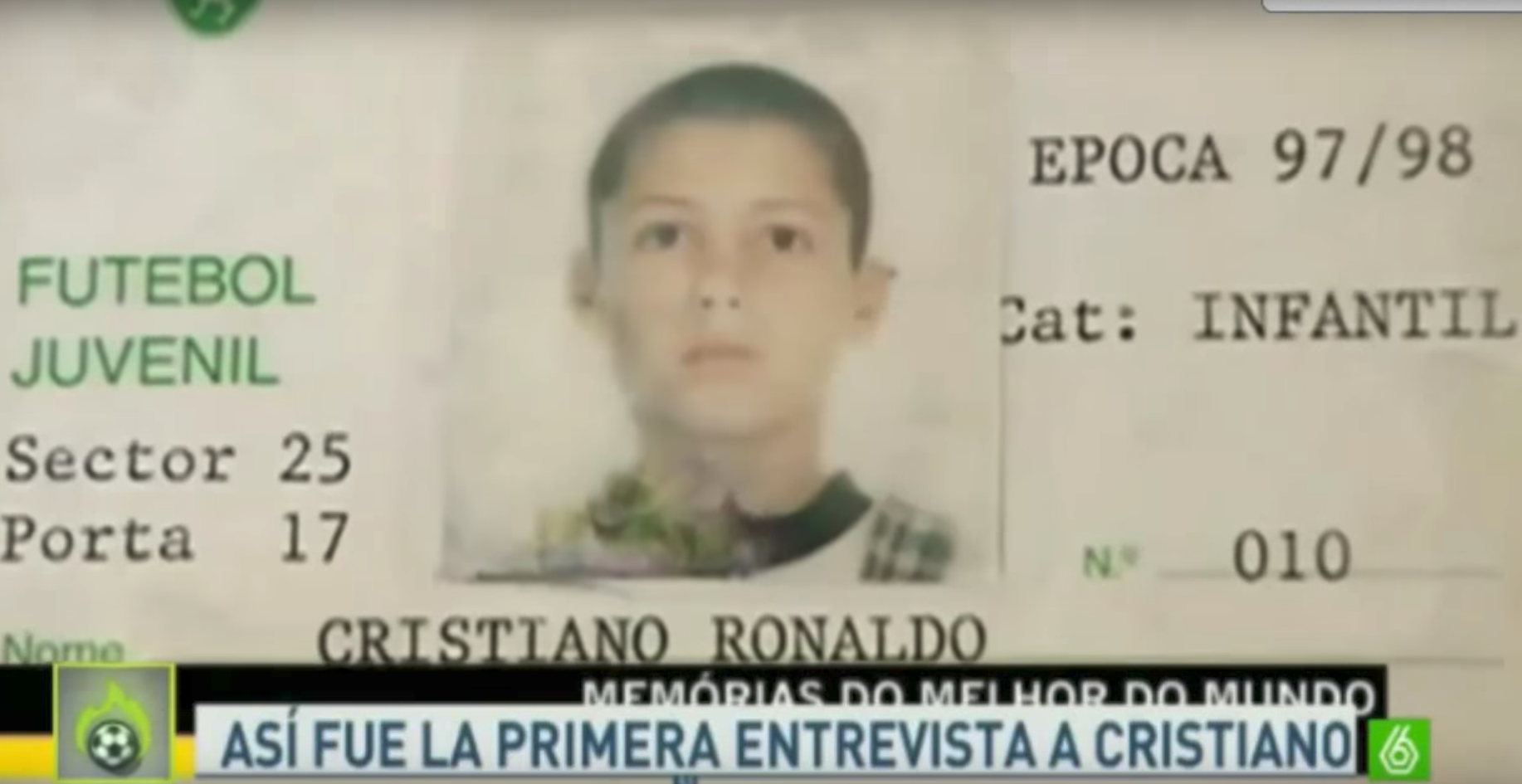 Cristiano Ronaldo, primer entrevista, televisión, 16 años, promesa, Sporting de Lisboa, trayectoria