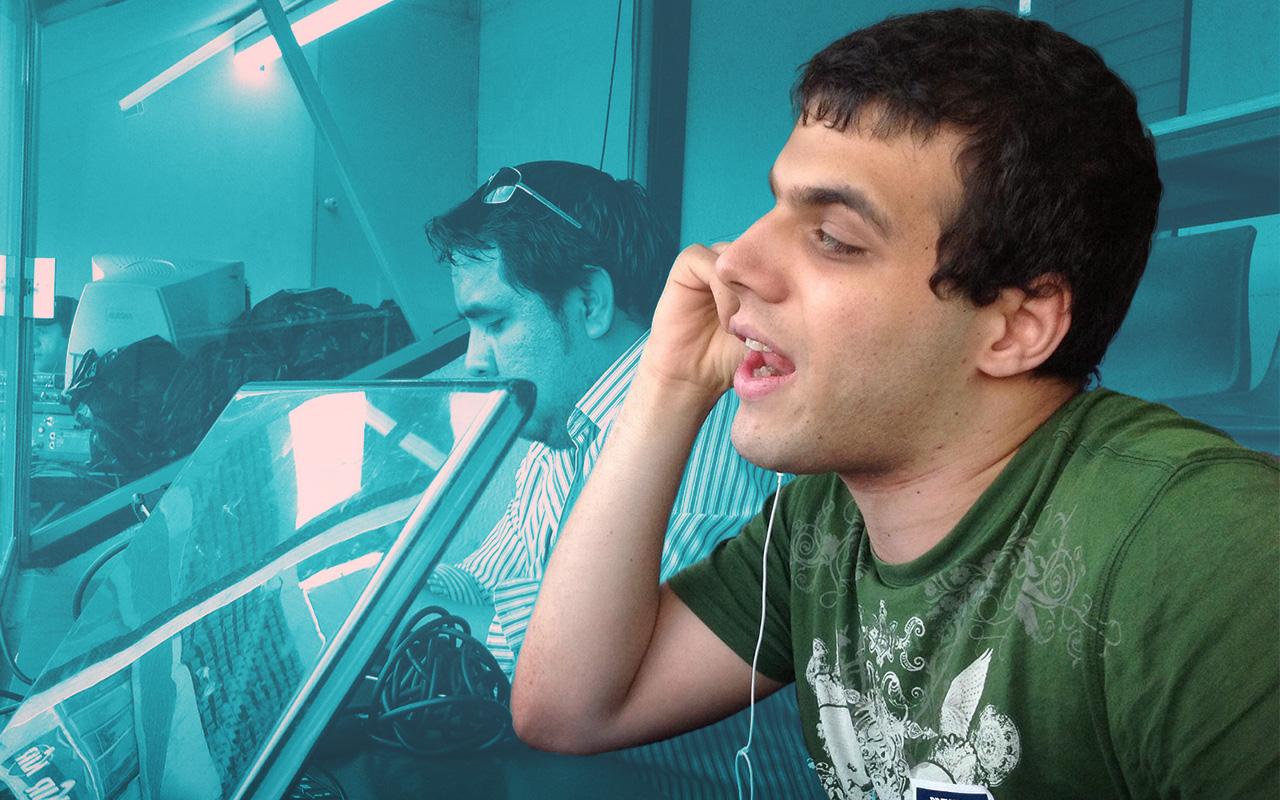 Eduardo Iga reportero ciego Saraperos Liga MX