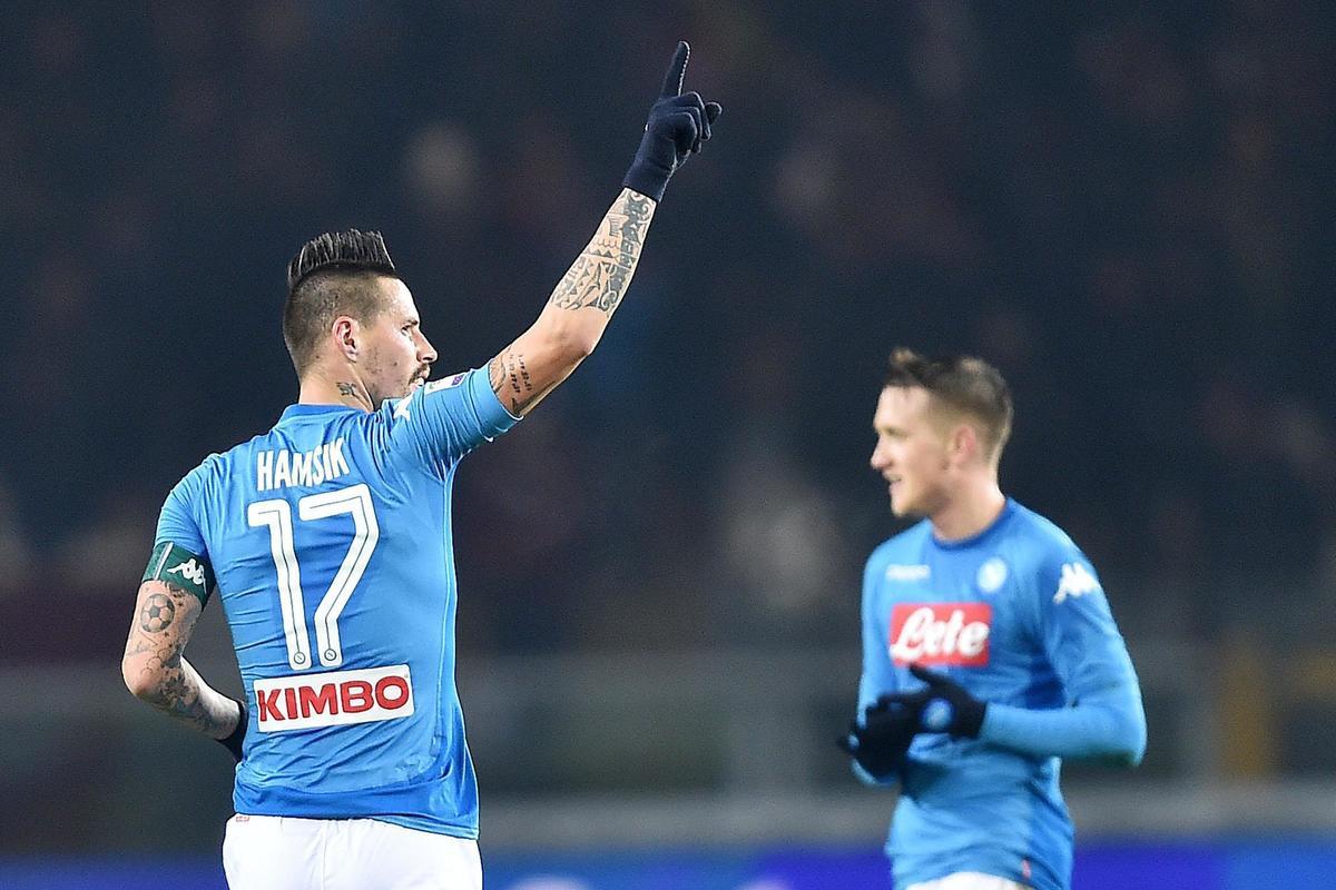Marek Hamsik, máximo goleador, Napoli, Supera, Maradona, Diego Armando Maradona, napoles, 2017, gol, Sampdoria, Italia