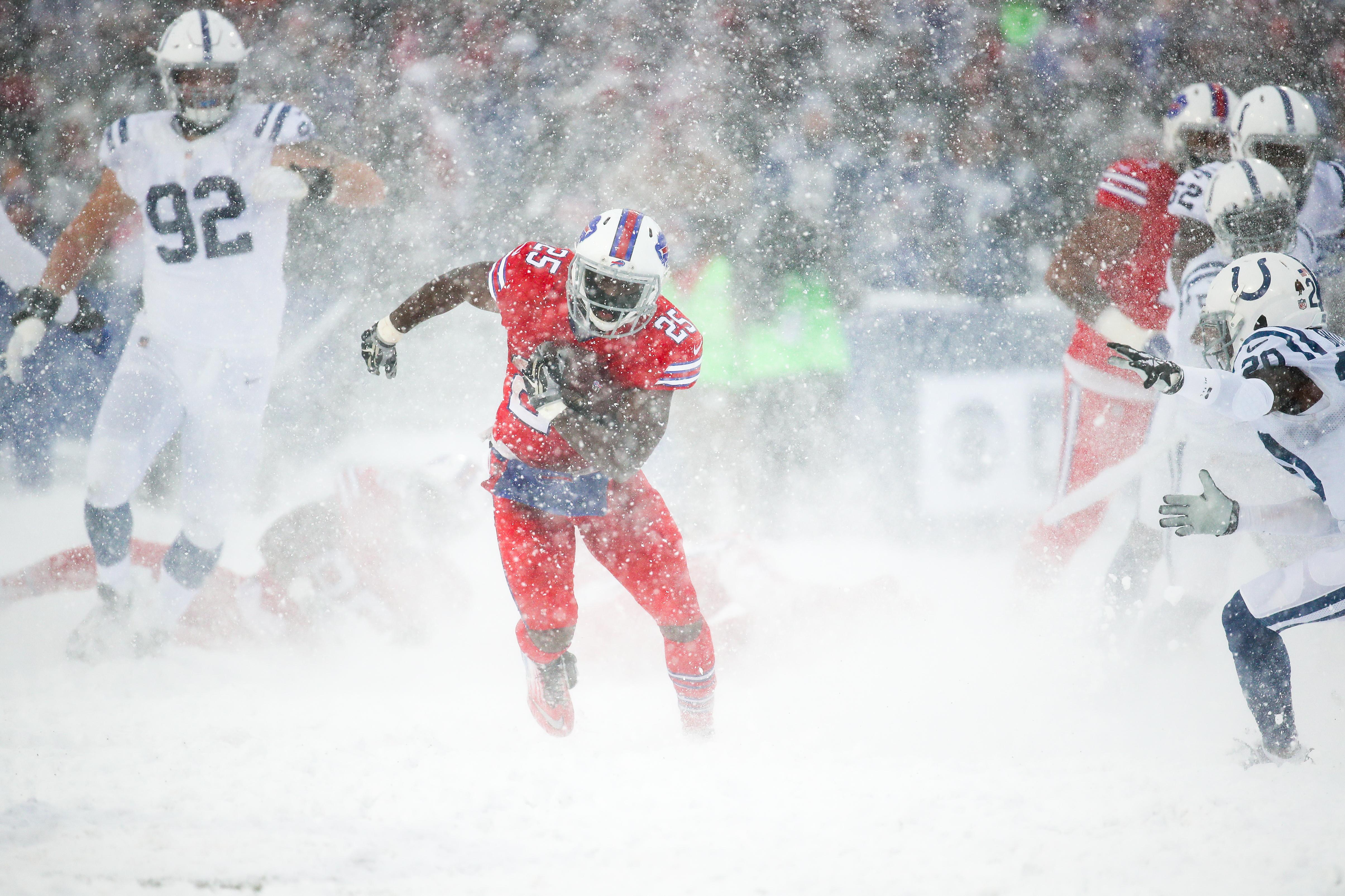 Tormenta de nieve NFL Buffalo Bills Indianapolis Colts