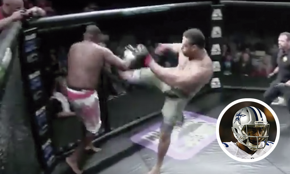 NFL MMA Greg Hardy video Dallas Cowboys American Kombat Alliance