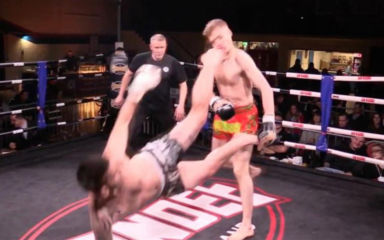 Patada Increible Muay Thai Irlanda Nocaut