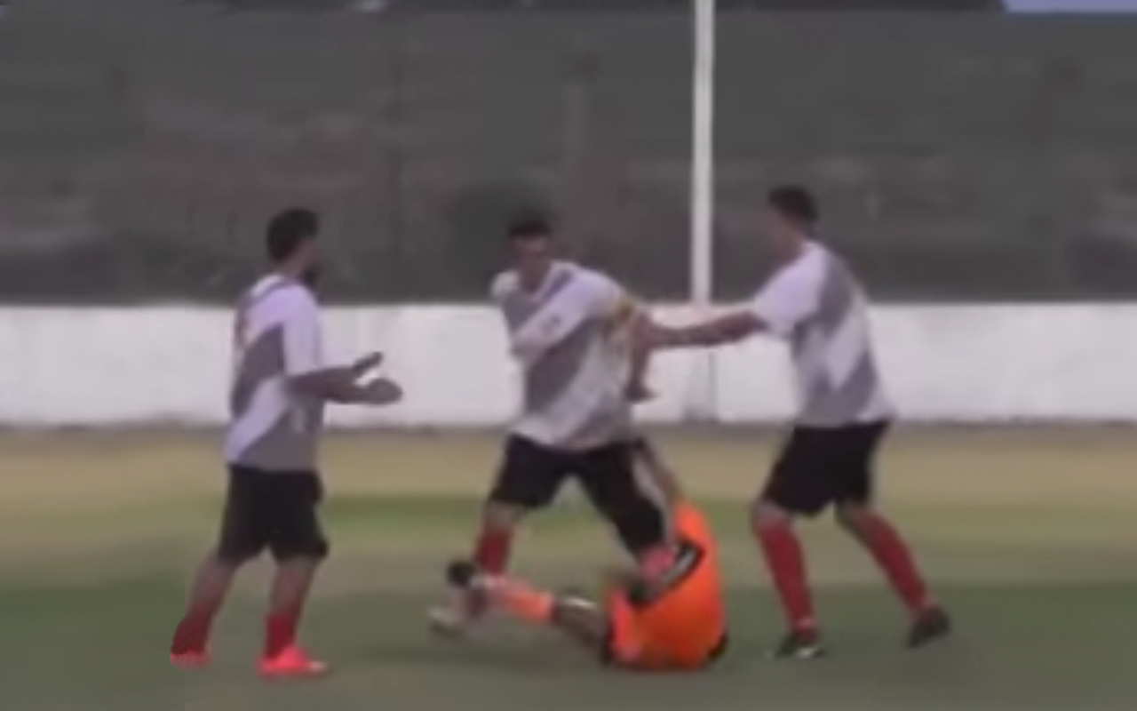 Violencia Argentina Árbitro detenido Independiente Liga Nacional Aranguren