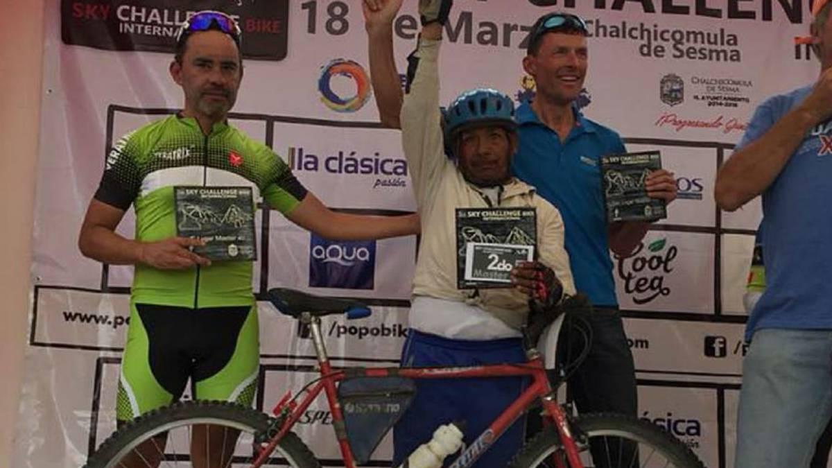Campesino segundo lugar carrera ciclista altura México