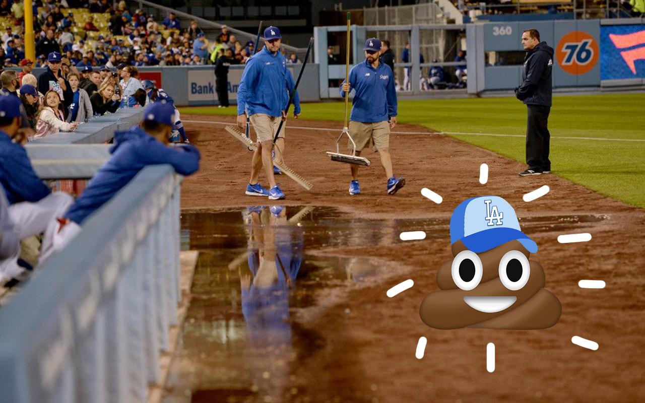 Excremento Dodgers Estadio Video Los Angeles MLB Fuga 2