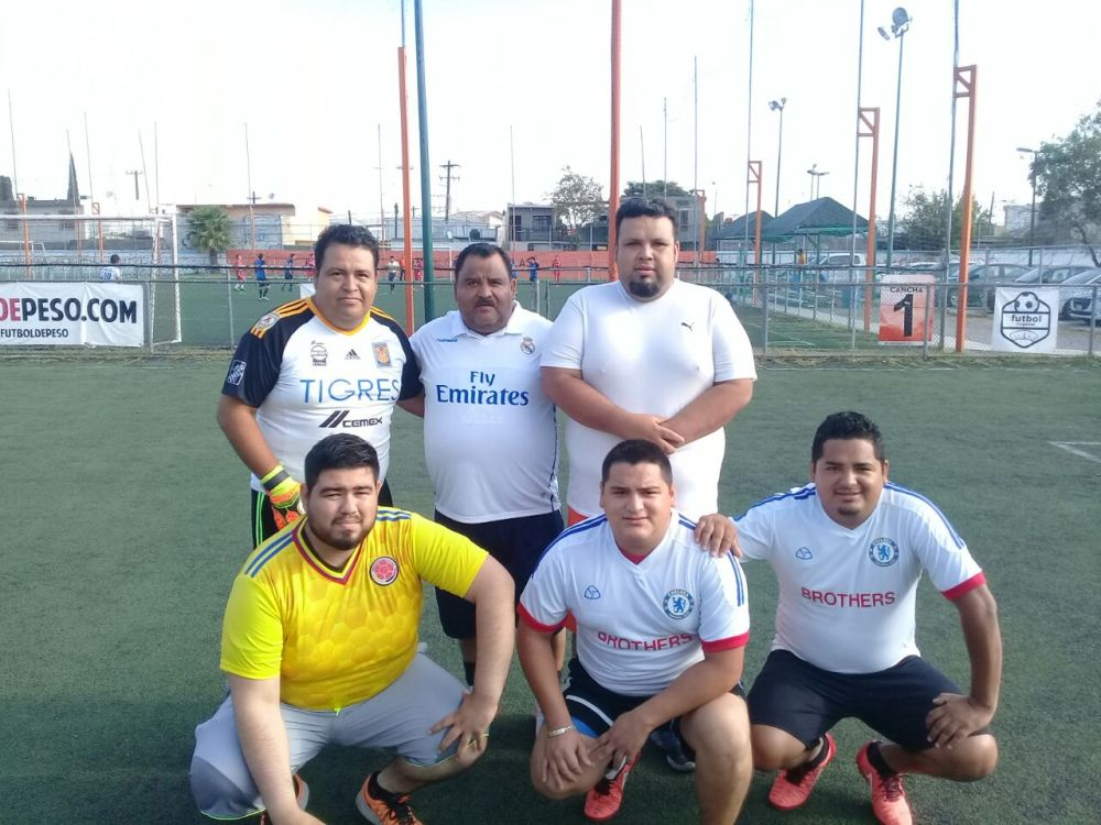 Liga De Peso Obesos Futbol México Monterrey Pequeno