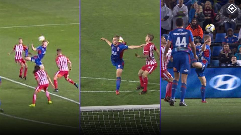 Gol Escorpión Australia Ronaldo McGee Newcastle Video Chilena