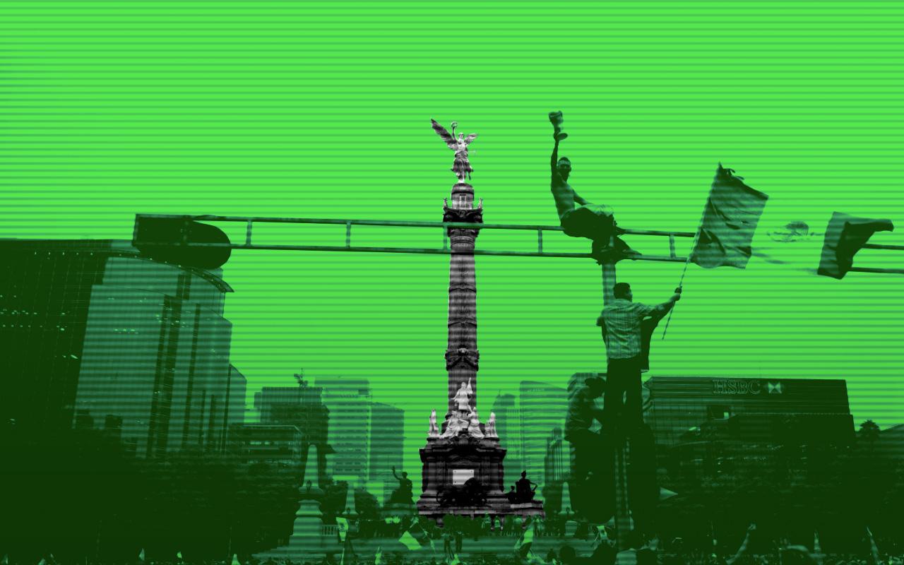 Rusia 2018 México Angel De La Independencia Festejos