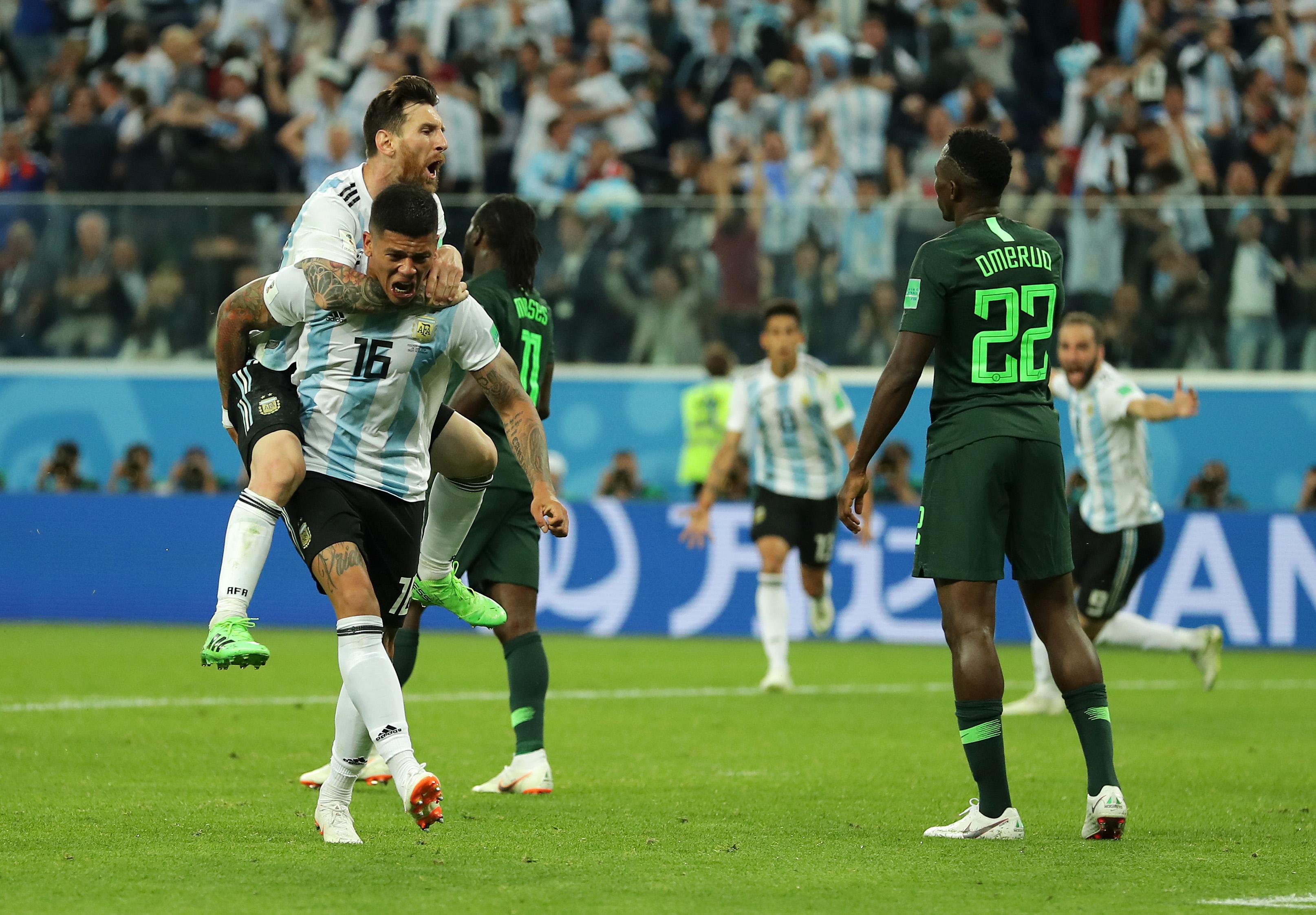 Argentina Messi Nigeria Mundial Rusia 2018 Goles Octavos Final
