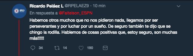 Declaración Ricardo Peláez