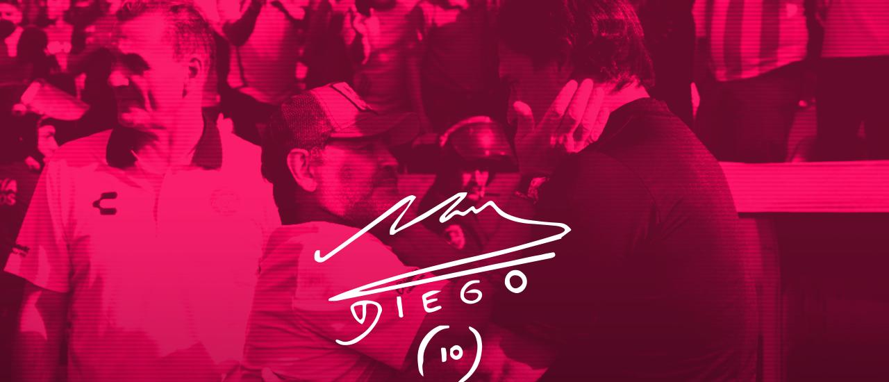 Autográfo Maradona Técnico Dorados Ascenso MX Zacatepec